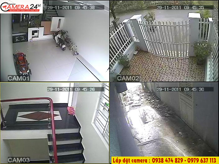 Trọn bộ 4 camera kbvision tại bình dương