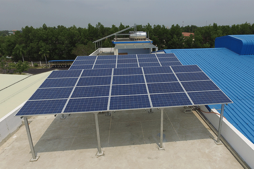 Hình công trình lắp đặt điện năng lượng mặt trời đồng nai