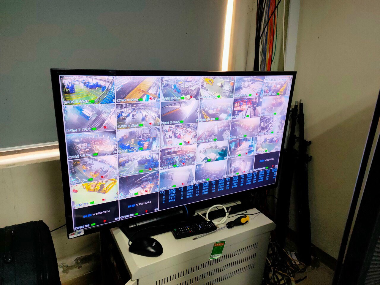 Hệ thống 16 camera kbvision cho nhà xưởng tại khu công nghiệp Vsip II - Bình Dương