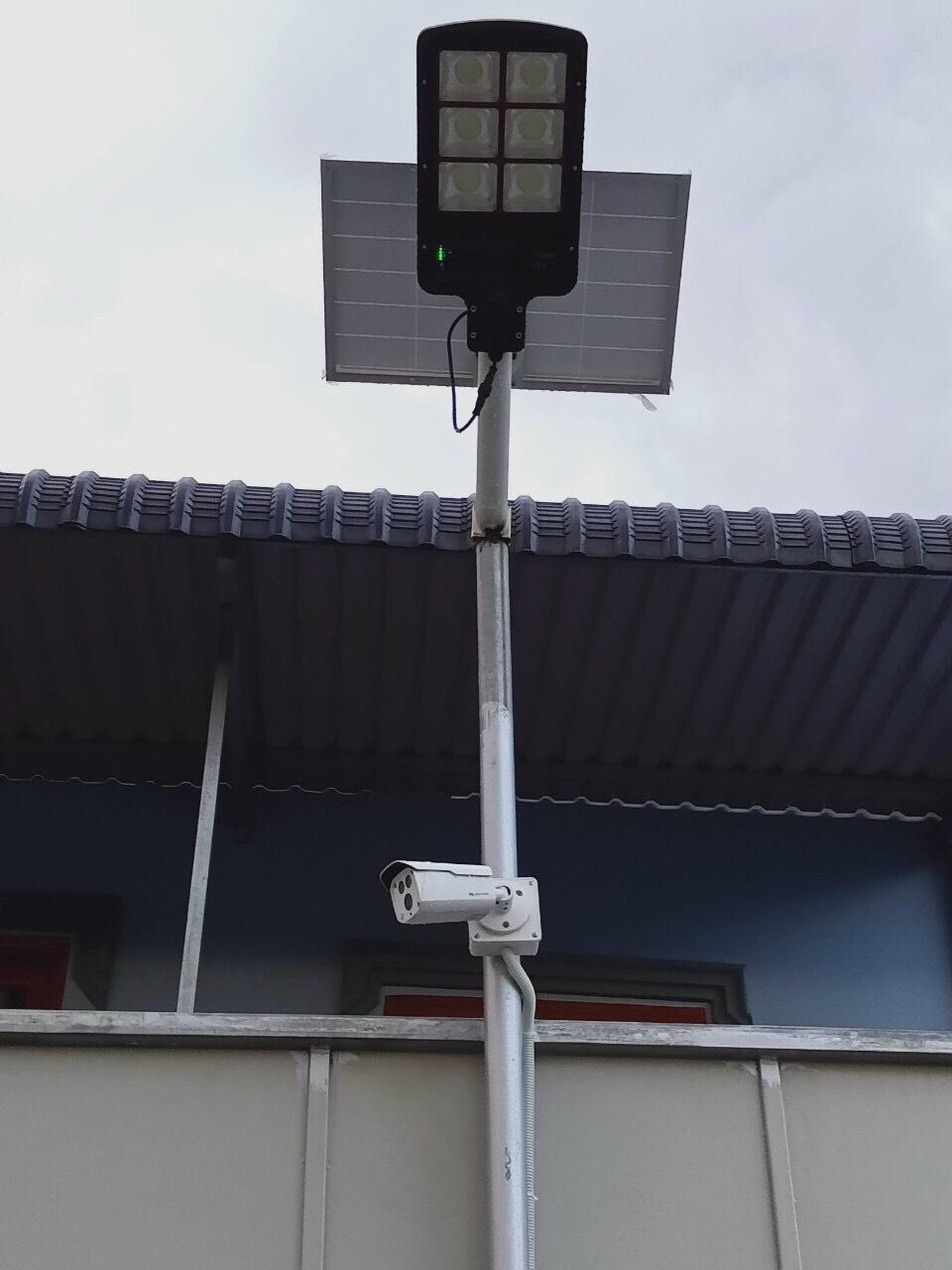 Hệ thống camera và đèn năng lượng mặt trời tại Khu công nghiệp Nam Tân Uyên