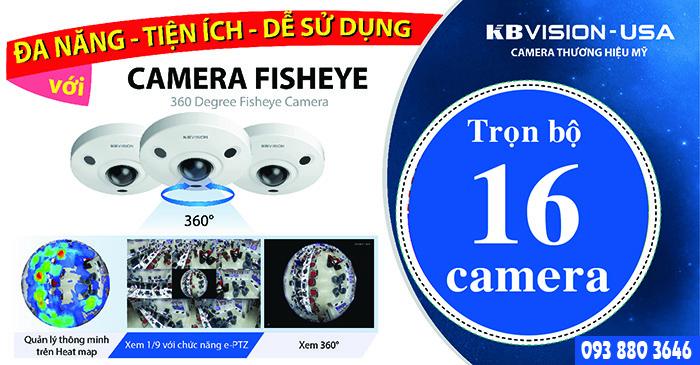Trọn Bộ 16 Camera KBVISION