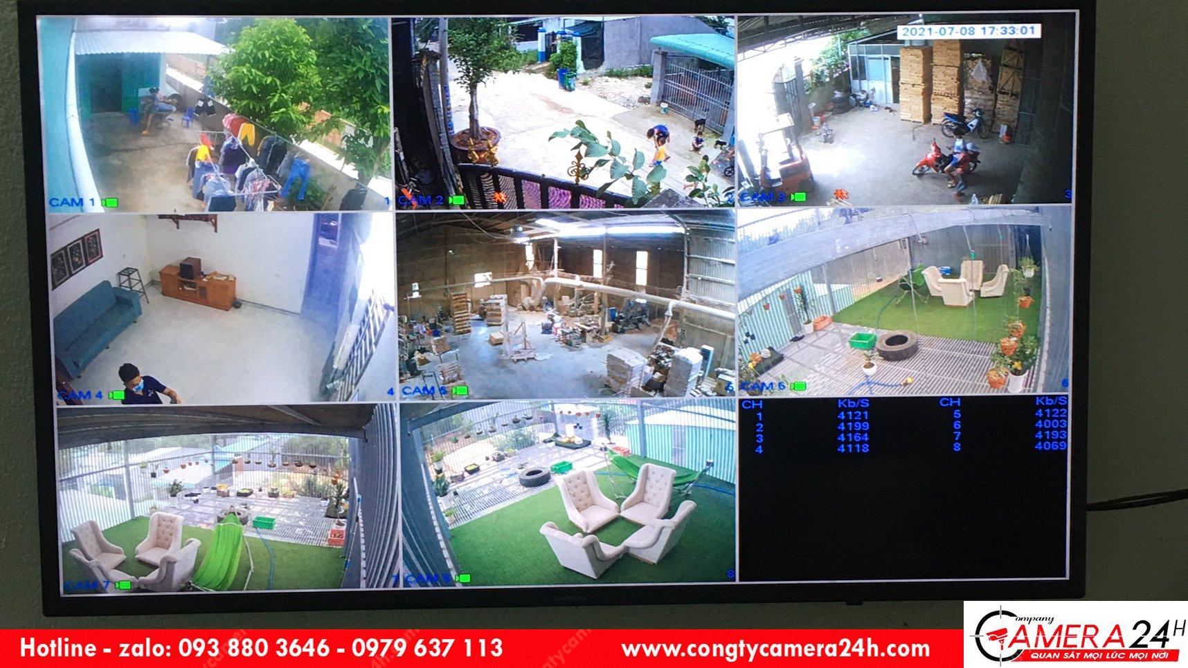 Lắp đặt hệ thống camera cho nhà âm tường tại Bình Dương